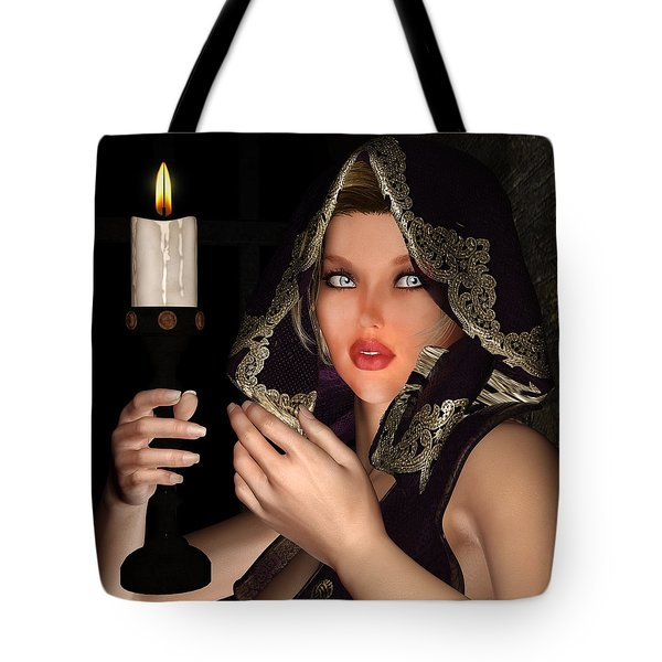 Hooded Girl Tote Bag