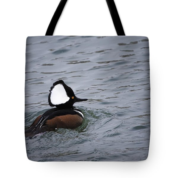 Hooded Merganser 3 Tote Bag by Gary Hall