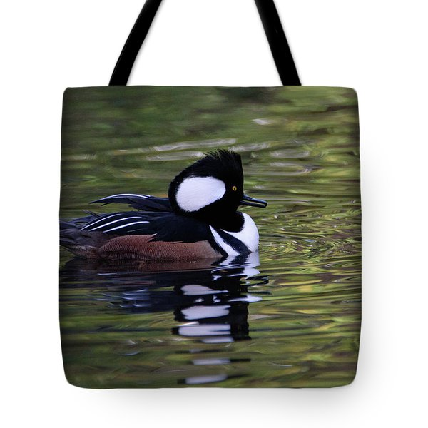 Hooded Merganser Duck Tote Bag