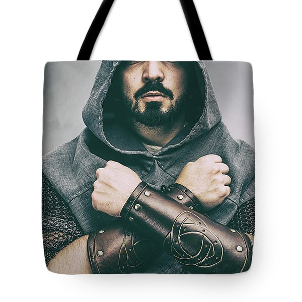 Hooded Viking Warrior Tote Bag