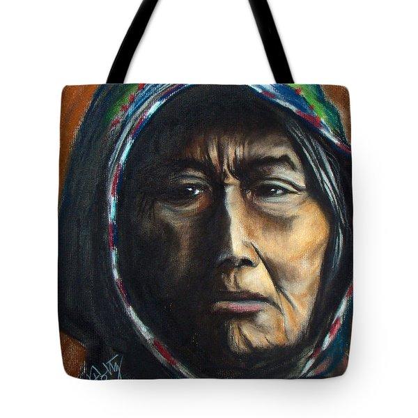 Hooded Woman Tote Bag