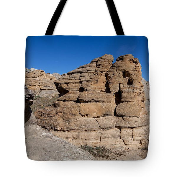 Tote Bag featuring the photograph Hoodoo Stack by Fran Riley