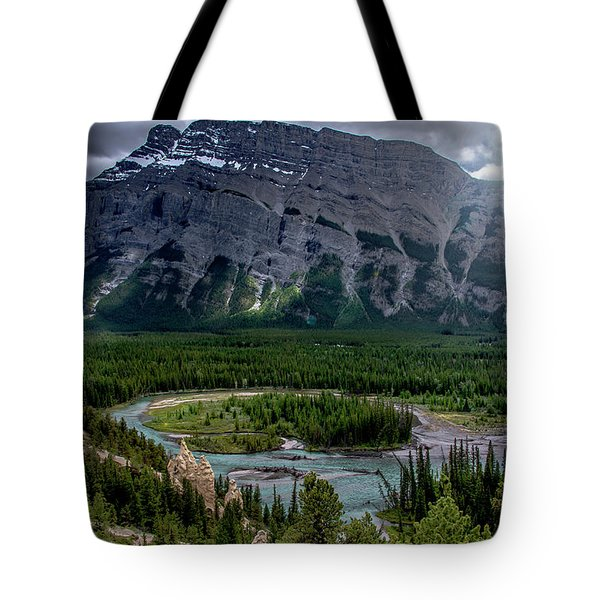 Hoodoos On The Bow River Tote Bag