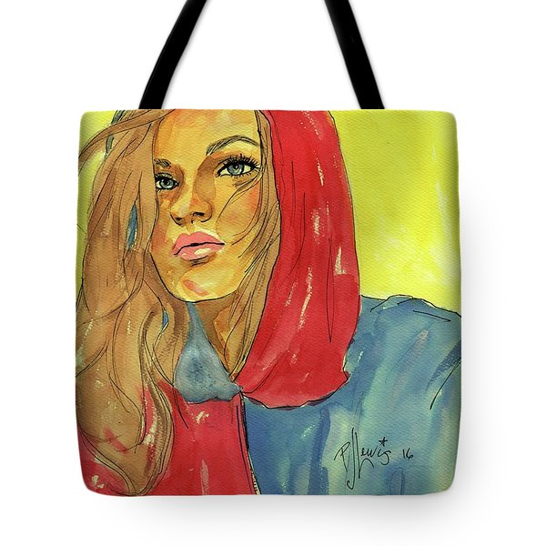 Tote Bag featuring the painting Hoody by P J Lewis