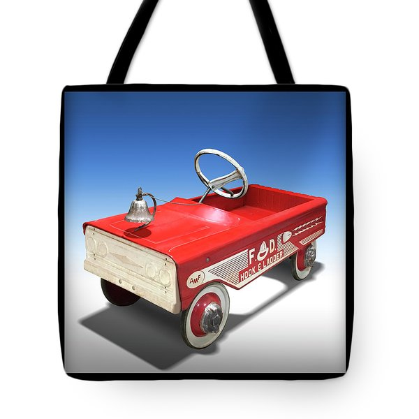 Tote Bag featuring the photograph Hook And Ladder Peddle Car by Mike McGlothlen