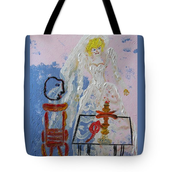 Hookah And The Bride Tote Bag