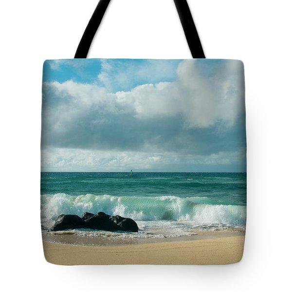 Tote Bag featuring the photograph Hookipa Beach Pacific Ocean Waves Maui Hawaii by Sharon Mau