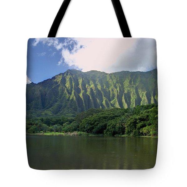 Hoolanluhia Botanical Garden Tote Bag by Michael Peychich