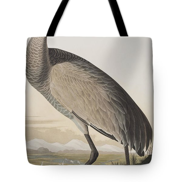 Hooping Crane Tote Bag by John James Audubon