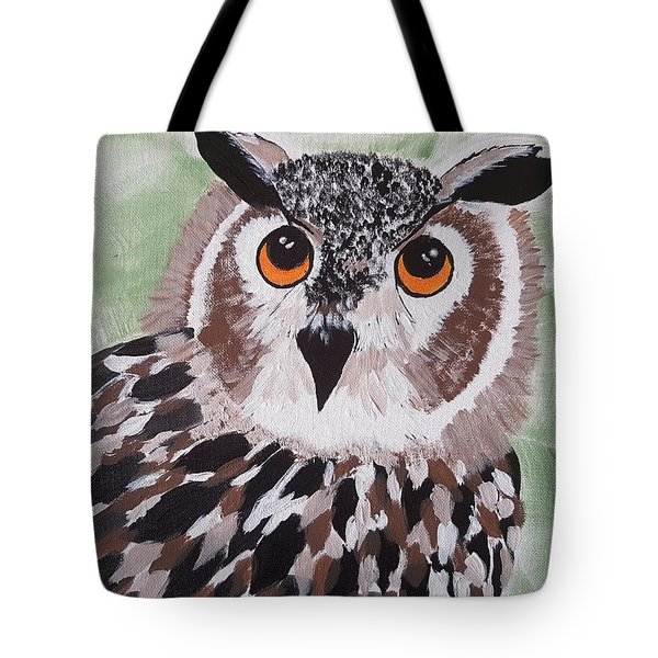 Hoot Tote Bag by Judi Goodwin