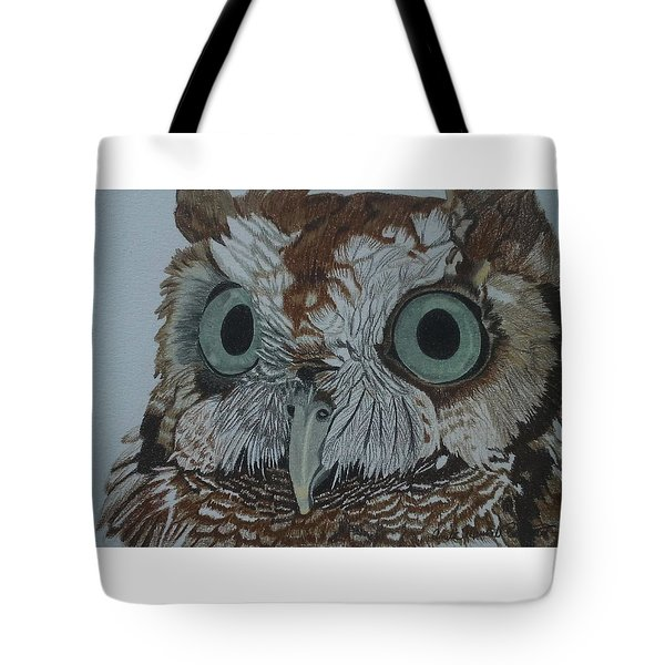 Hooty Who? - Screech Owl Detail Tote Bag