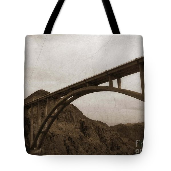 Tote Bag featuring the photograph Hoover Dam Bridge by Beauty For God