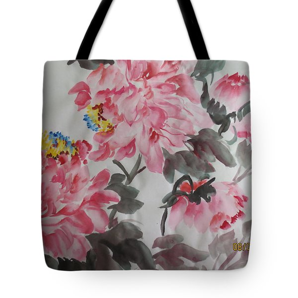 Tote Bag featuring the painting Hop08012015-691 by Dongling Sun