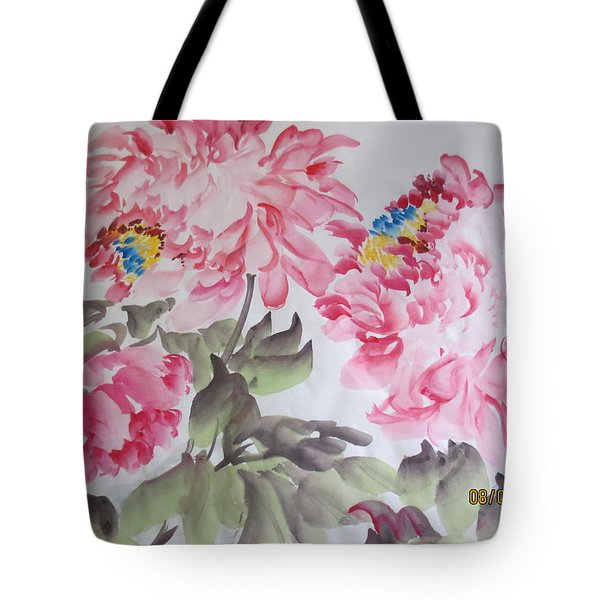 Tote Bag featuring the painting Hop08012015-692 by Dongling Sun
