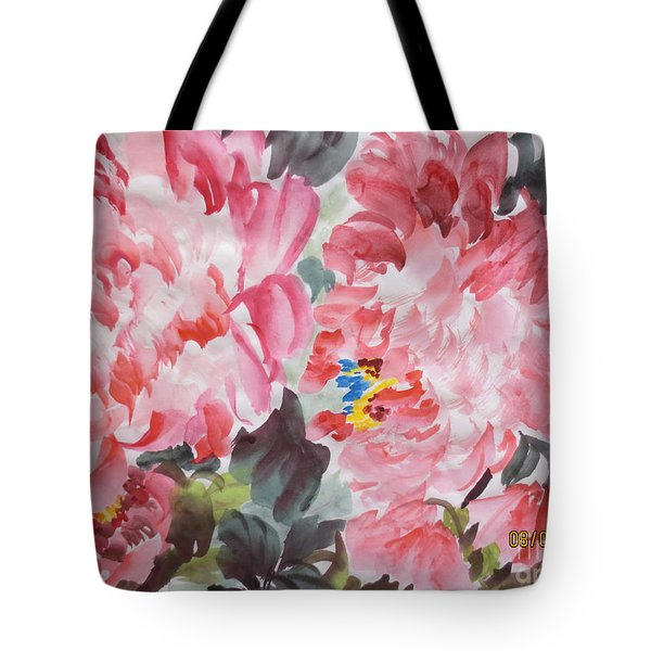 Tote Bag featuring the painting Hop08012015-694 by Dongling Sun