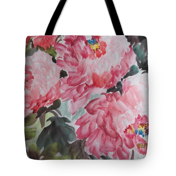 Tote Bag featuring the painting Hop08012015-695 by Dongling Sun