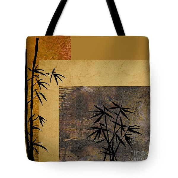 Tote Bag featuring the digital art Hope And Bamboo by Nola Lee Kelsey