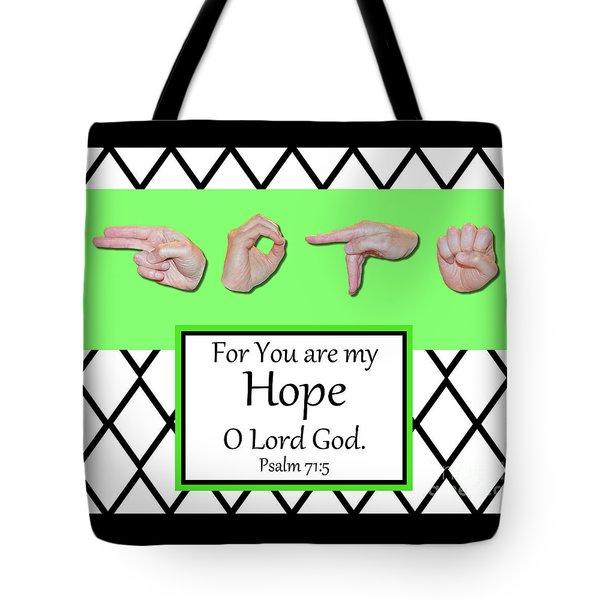 Hope - Bw Graphic Tote Bag