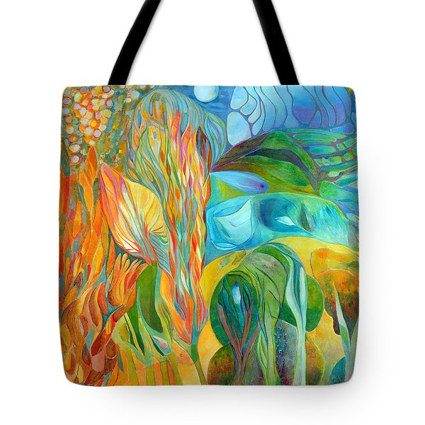 Tote Bag featuring the painting Hope Flies by Linda Cull