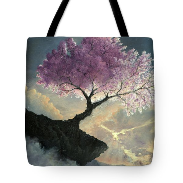 Tote Bag featuring the painting Hope Inclines by Rosario Piazza