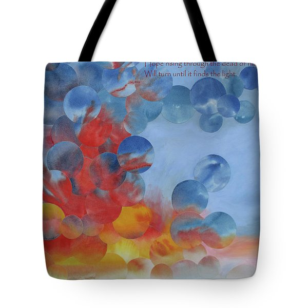 Hope Rising - With Poem Tote Bag by Jeni Bate