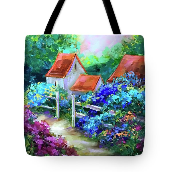 Hope Springs Hydrangea Garden Tote Bag