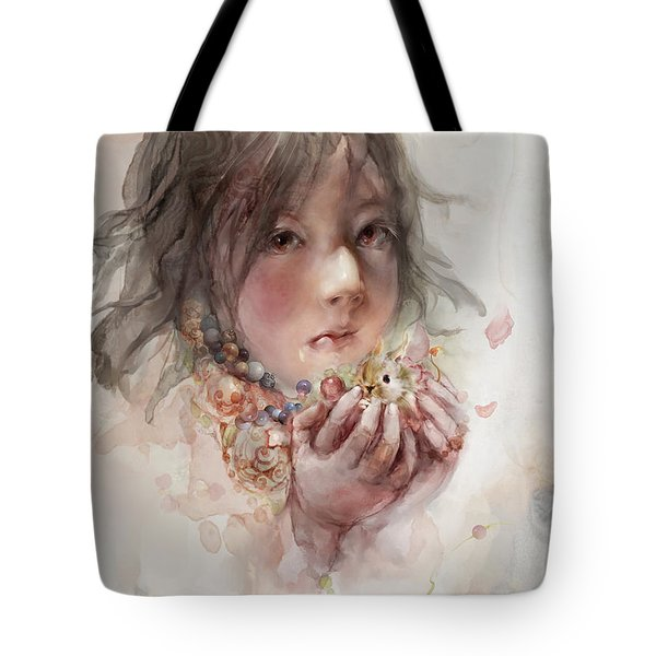 Tote Bag featuring the digital art Hope by Te Hu