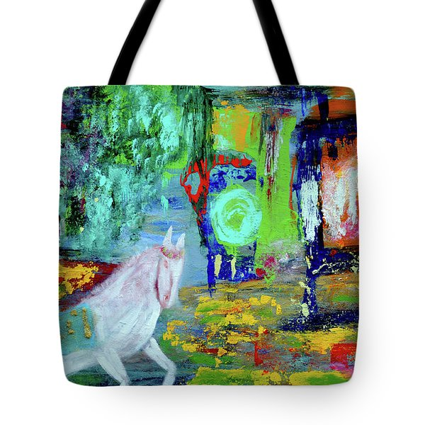 Hope - White Rain Comes From Dark Clouds Tote Bag by Haleh Mahbod