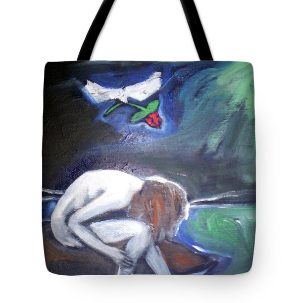 Tote Bag featuring the painting Hope  by Winsome Gunning