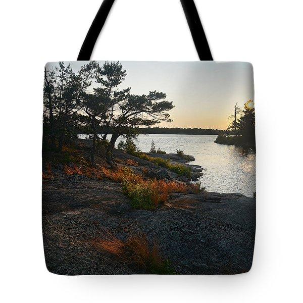 Hopewell Bay Island Rock Grass Tote Bag