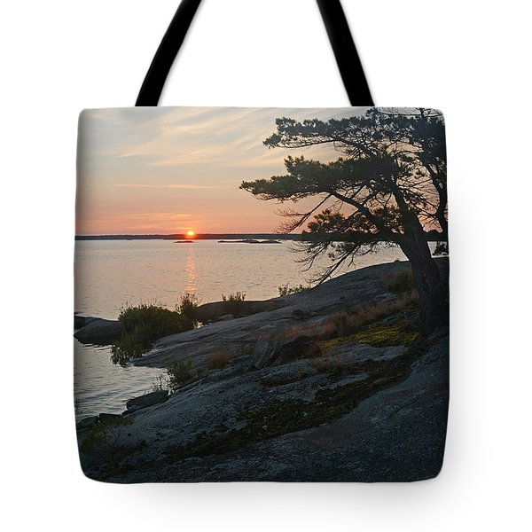 Hopewell Bay Island Sunrise1 Tote Bag