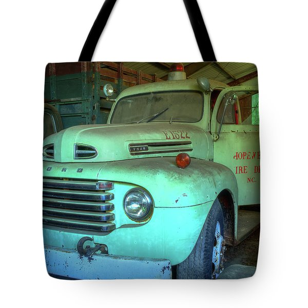 Tote Bag featuring the photograph Hopewell Fire Truck by Jerry Gammon