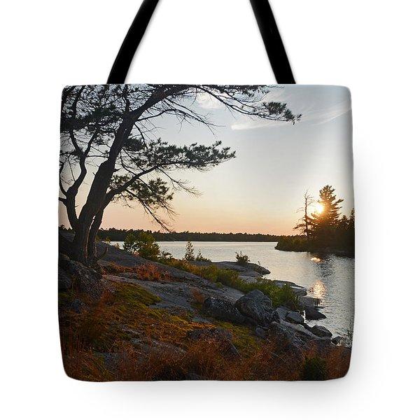 Hopewell Bay Island Wild Grass Sunset-1 Tote Bag