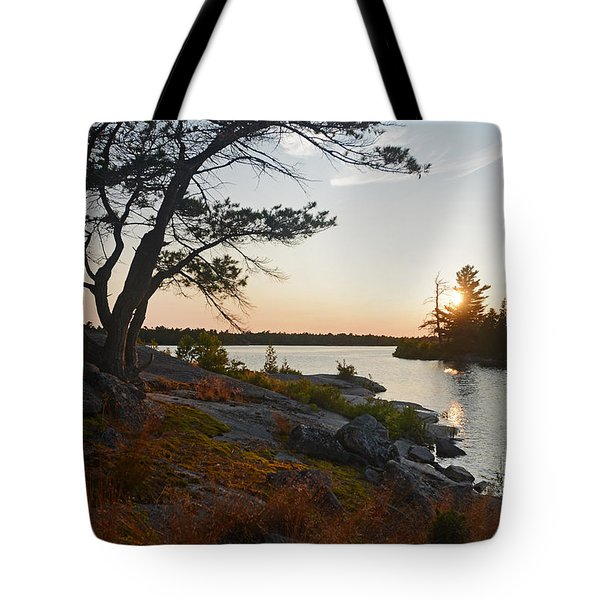 Hopewell Bay Island Wild Grass Sunset-1 Tote Bag