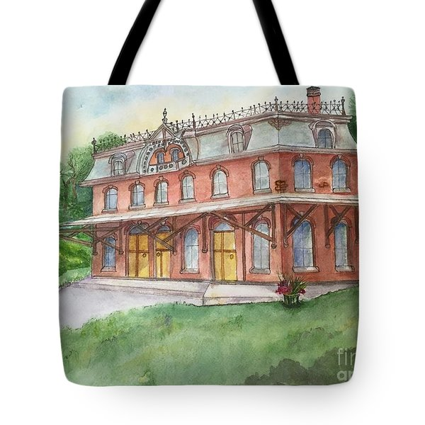 Hopewell Nj Train Station Tote Bag by Lucia Grilletto