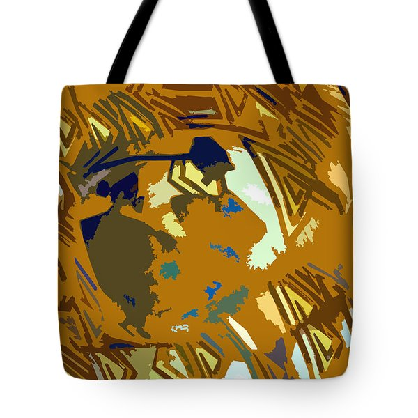 Hopi Flute Player Tote Bag by David Lee Thompson
