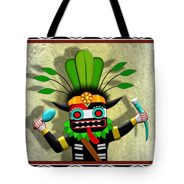 Tote Bag featuring the digital art Hopi Harvest Kachina by John Wills