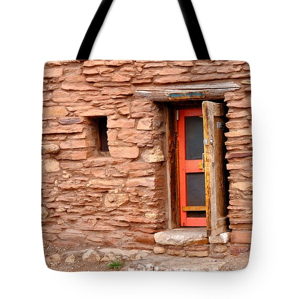 Hopi House Door Tote Bag by Julie Niemela