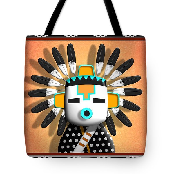 Tote Bag featuring the digital art Hopi Kachina Mask by John Wills