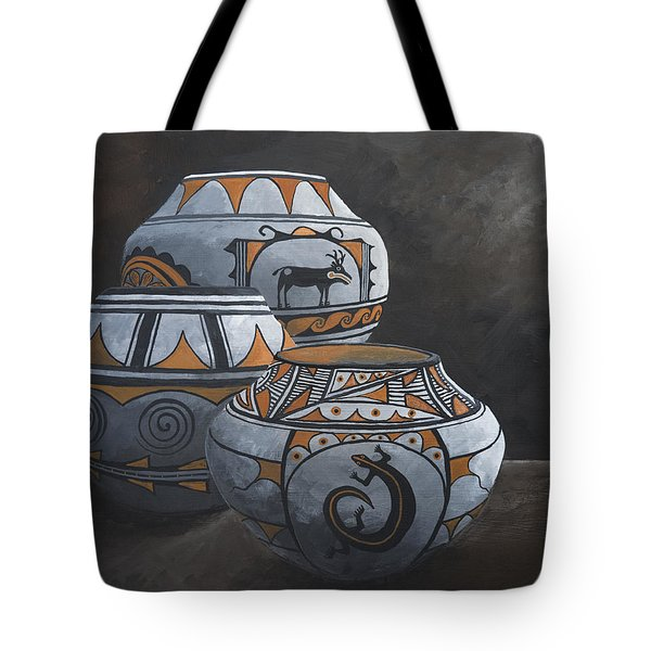 Hopi Pots Tote Bag by Jerry McElroy
