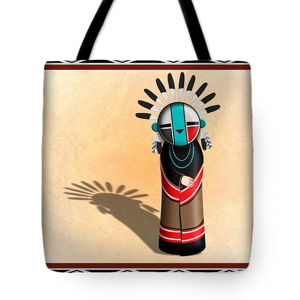 Hopi Sun Face Kachina Tote Bag