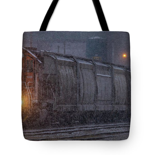 Hopper Cars Being Unloaded Tote Bag