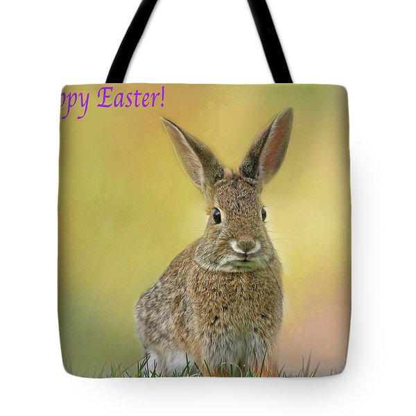 Tote Bag featuring the photograph Hoppy Easter  by Donna Kennedy