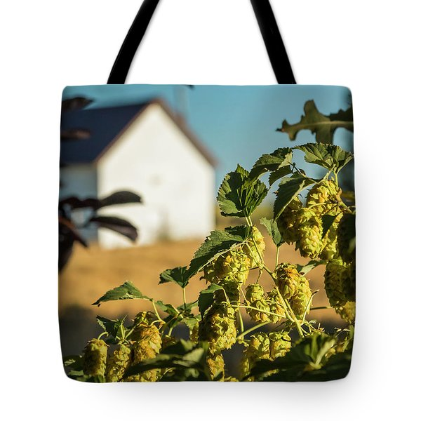 Tote Bag featuring the photograph Hops At Sunset by Mark Mille