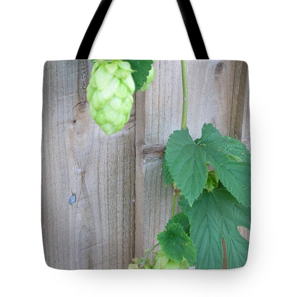 Hops On Fence Tote Bag