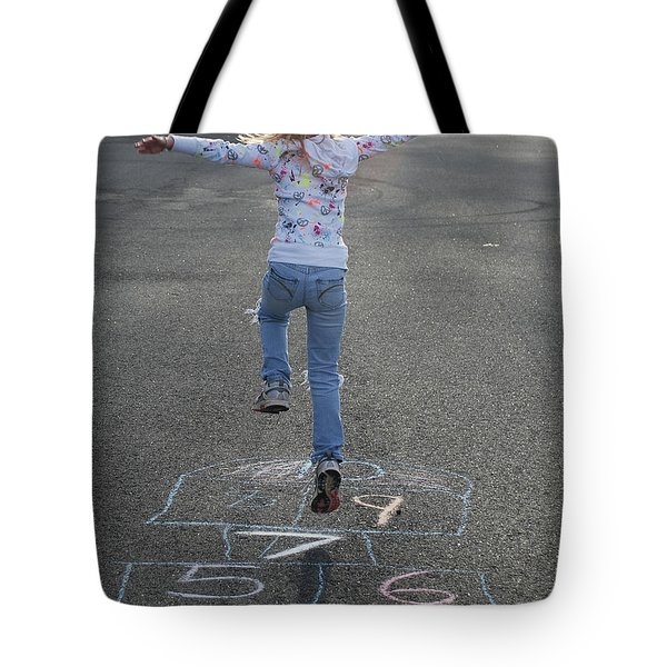 Tote Bag featuring the photograph Hopscotch Queen by Richard Bryce and Family