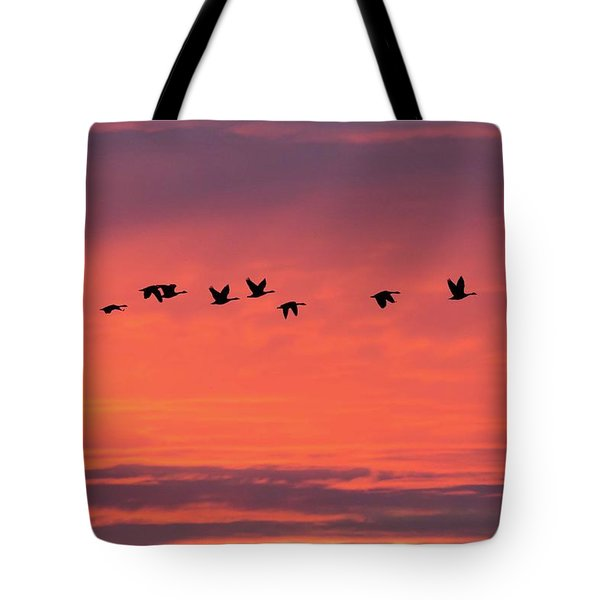 Horicon Marsh Geese Tote Bag