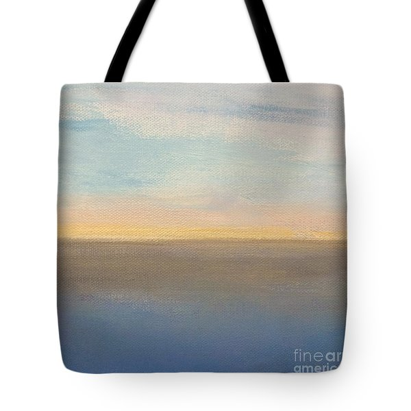 Tote Bag featuring the painting Horizon Aglow by Kim Nelson