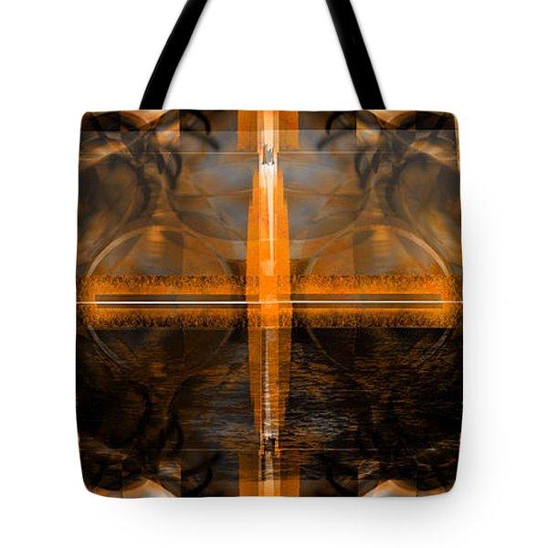 Tote Bag featuring the digital art Horizon by Art Di