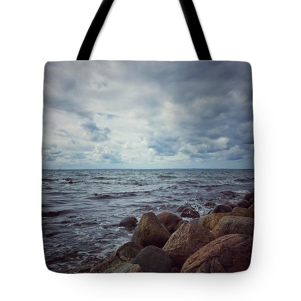Tote Bag featuring the photograph Horizon by Karen Stahlros